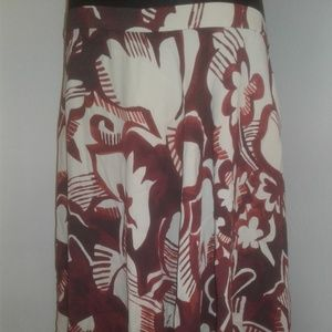 Ann Taylor Watercolor Floral Skirt